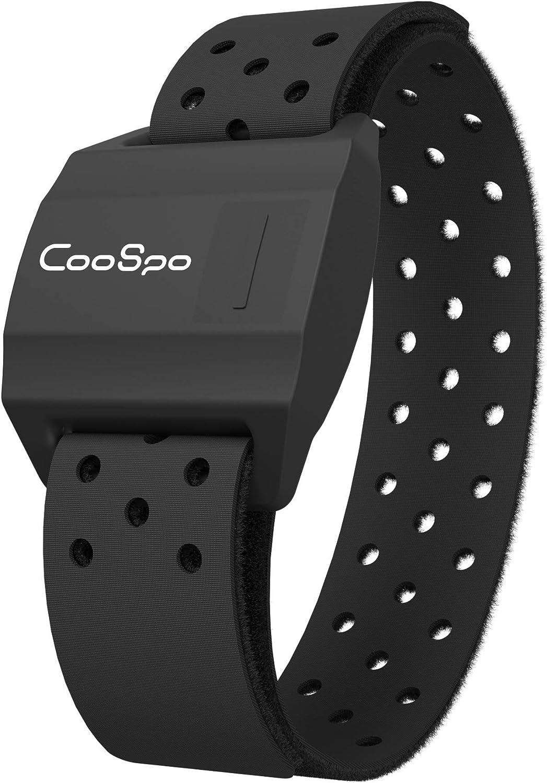 CooSpo - Brazalete con Sensor óptico de frecuencia cardíaca - con Bluetooth 4.0 y Ant+ - para REVOOLA (35 cm)