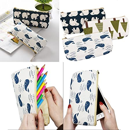Amazon.com: 9pc surtidos lápiz bolsa funda, creatiee bosque ...