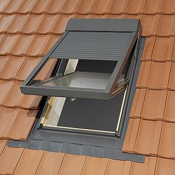 Gut Dachfenster Kunststoff 78x118 cm mit Elektro-Rollladen und  DN57