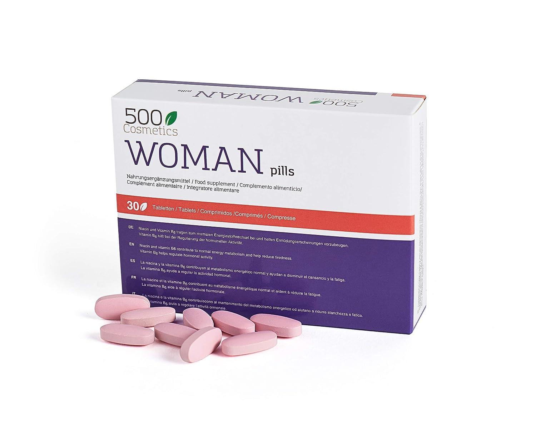 500Cosmetics Woman-Tabletas Naturales Para Aliviar los Síntomas de ...