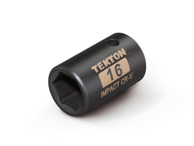 TEKTON 47773 1//2-Inch Drive by 18 mm Shallow Impact Socket 6-Point Cr-V