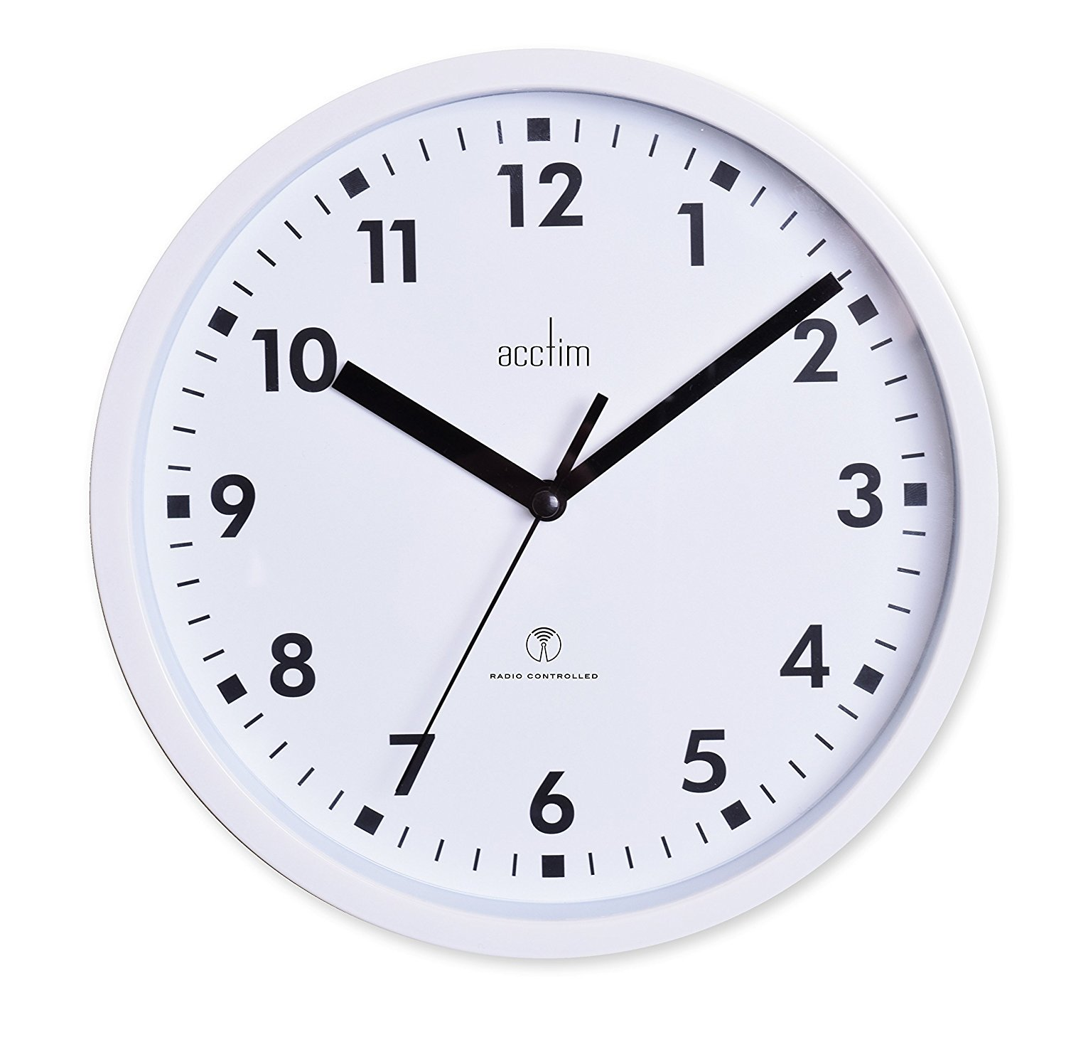 Acctim 74662 Nardo 20cm Radio Controlled White Wall Clock UKASNHKTN8454