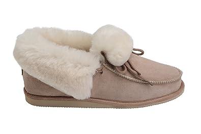 f4d4b5df156f05 Rusnak Womens Mens Luxury Fully Wool Lined Sheepskin Moccasin Slippers Shoes