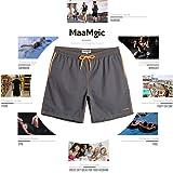MaaMgic Mens Quick Dry Swim Trunks with Mesh Lining