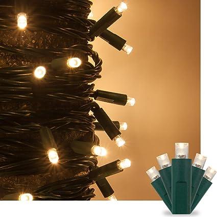 Amazon.com : Warm White LED Christmas Mini String Light Set, 50 ...