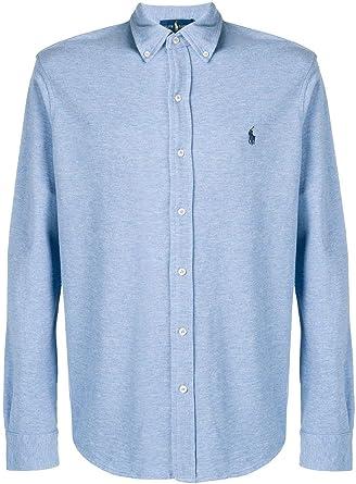 Ralph Lauren Luxury Fashion Hombre 710654408025 Azul Claro Camisa | Temporada Outlet: Amazon.es: Ropa y accesorios
