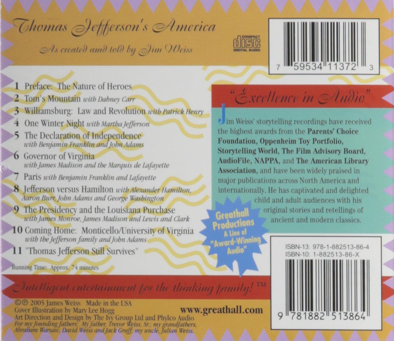 Jim Weiss - Thomas Jefferson\'s America - Amazon.com Music