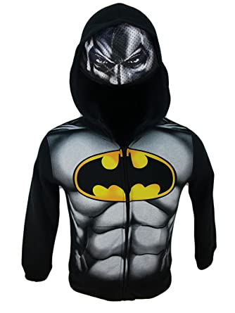 2816ddd01 Amazon.com  Batman Kids Costume Hoodie with Mask  Clothing