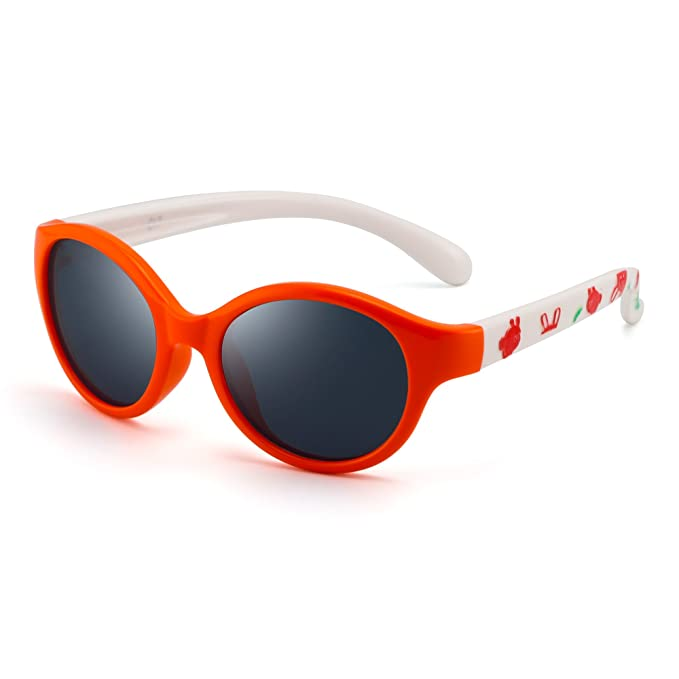 Niños Redondo Goma Polarizadas Gafas de Sol Sombras Lindas Chica Chico Hijo 3 a 12