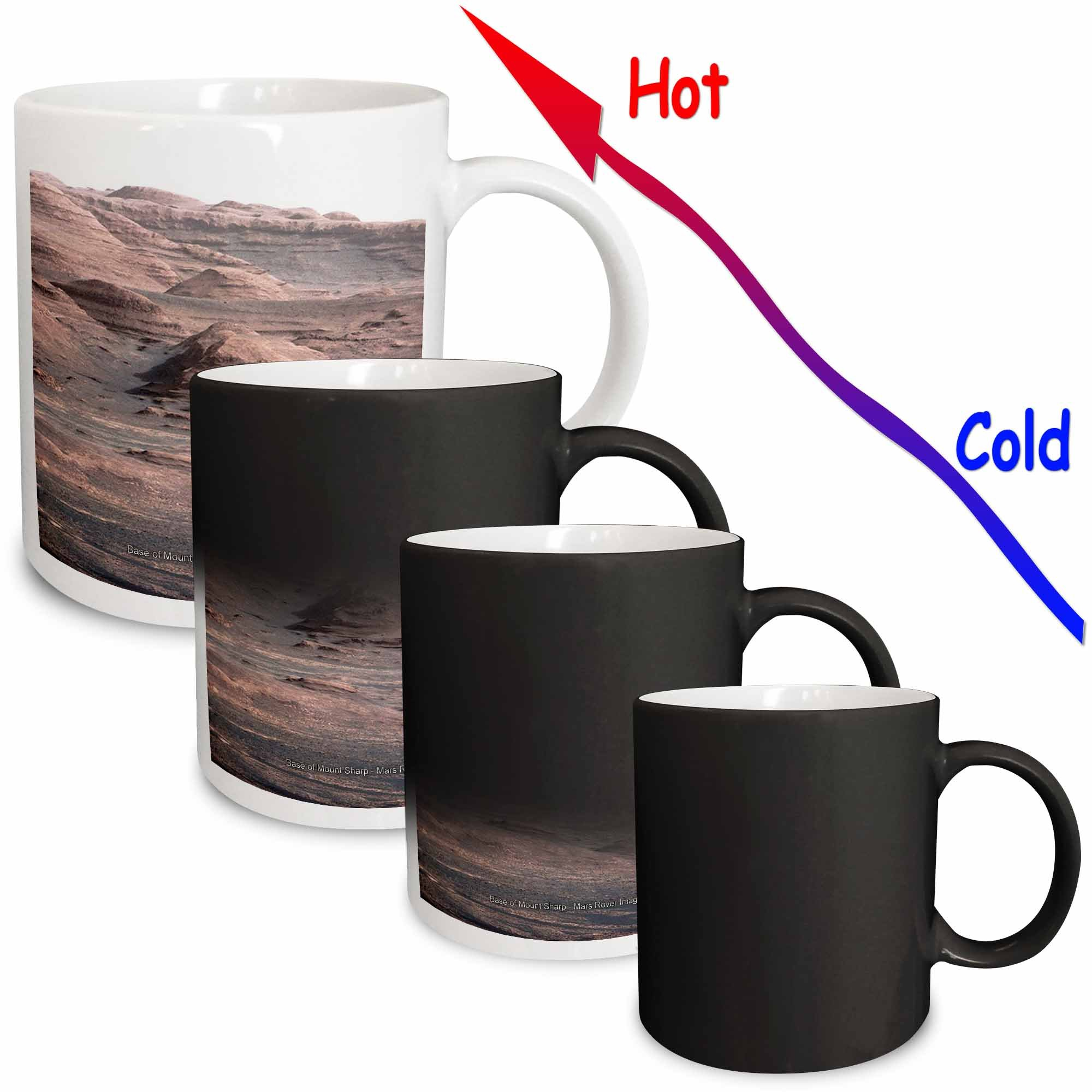 3dRose mug_76835_3 Solar System Base of Mount Sharp Mars Rover Image Magic Transforming Mug, 11-Ounce