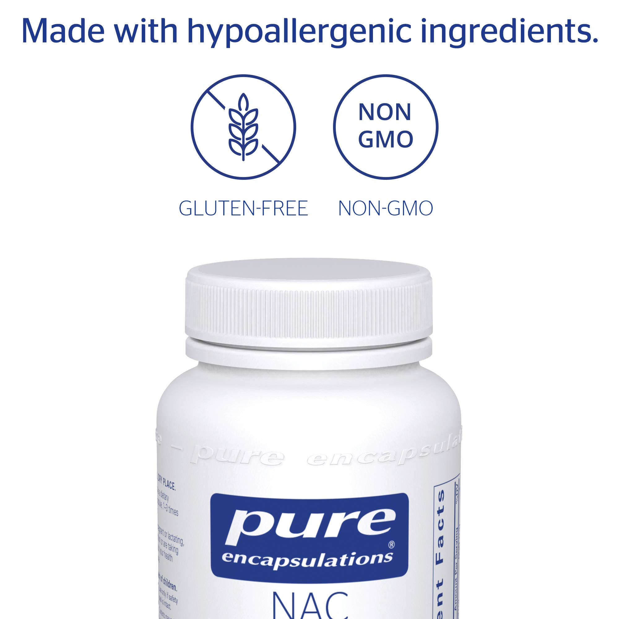 Pure Encapsulations - NAC (N-Acetyl-L-Cysteine) 600 mg - Amino Acids to Support Antioxidant Defense and Healthy Lung Tissue - 90 Capsules by Pure Encapsulations (Image #4)