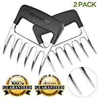 [2-Pack] Seleware Innovative Meat Claws, BBQ Meat Forks, Pulled Pork Shredder Claws, Ultra-Sharp Blades BPA Free Barbecue Paws for Lift, Handle, Shred and Cut Meats