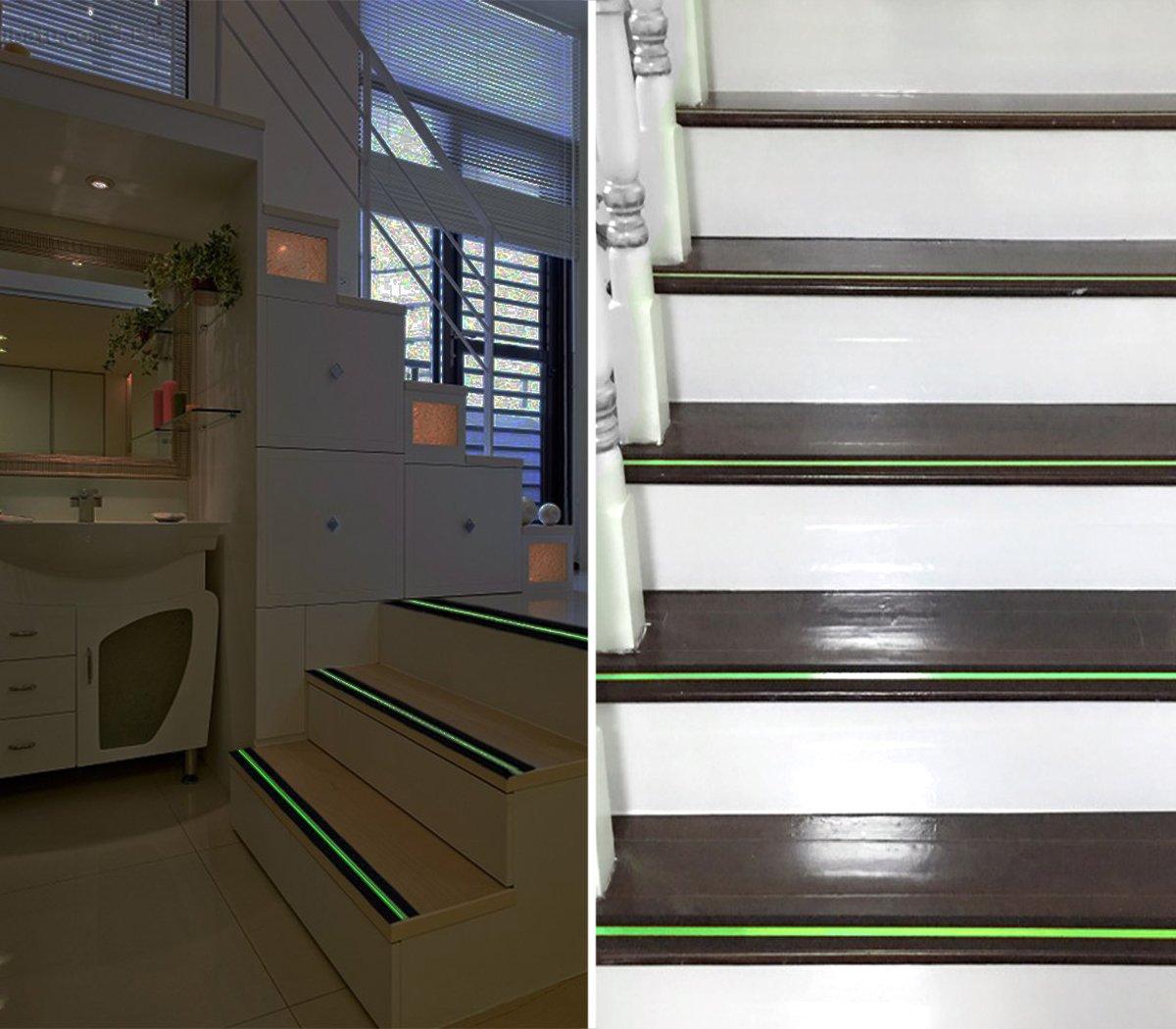 Indoor /& Outdoor 5,1 cm X 16.4 ft Schwarz Rutschfeste Grip Tape Glow in Dark TooTaci Sicherheit Tape verbessert Grip und rutschfeste Sicherheit Stufenmatte Treppenstufe
