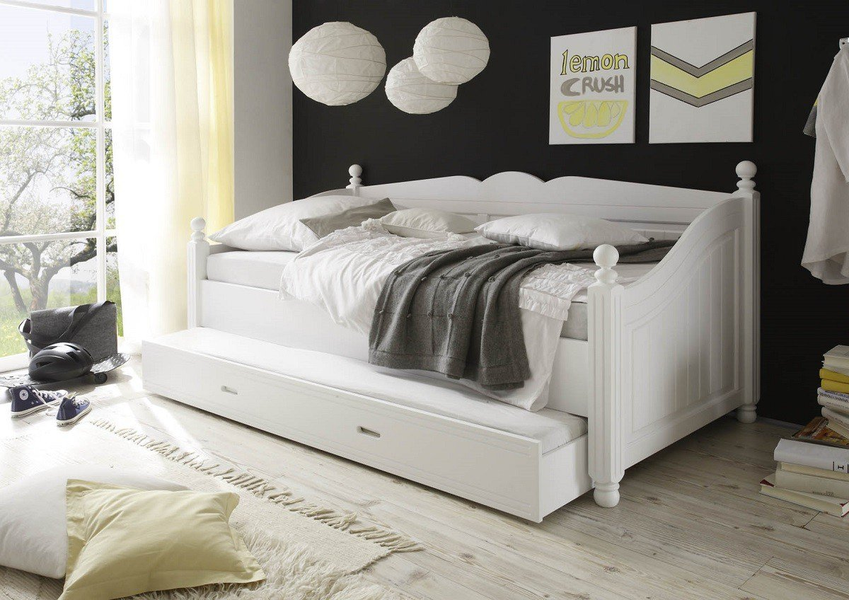 dreams4home kojenbett 39 dreamy 39 bett 90 x 200 cm schlafzimmer g stezimmer kinderzimmer ohne. Black Bedroom Furniture Sets. Home Design Ideas