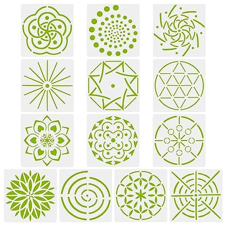 Novelfun Mandala Dot Peinture Pochoirs Template Lot De 13 Mandala