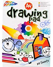 A4 Plain Drawing and Colouring Pad 80 Sheets140 Pages Padded Size 297mm x 210mm