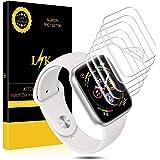 L K [6 Pièces Protection Écran pour Apple Watch 44mm Serie 4, [sans Bulles] [Qualité Supérieure] Transparent TPU Film Protection écran Apple Watch 44mm Serial 4