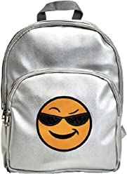 Emoji 3 Pocket Girls Designer Backpack - Sunglasses