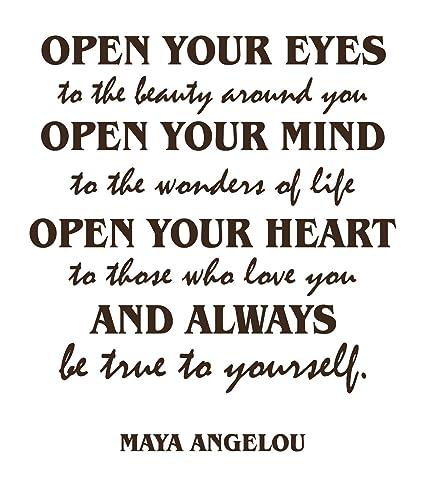 Amazoncom Maya Angelou Quotes Inspirational Wall Decals Vinyl Wall