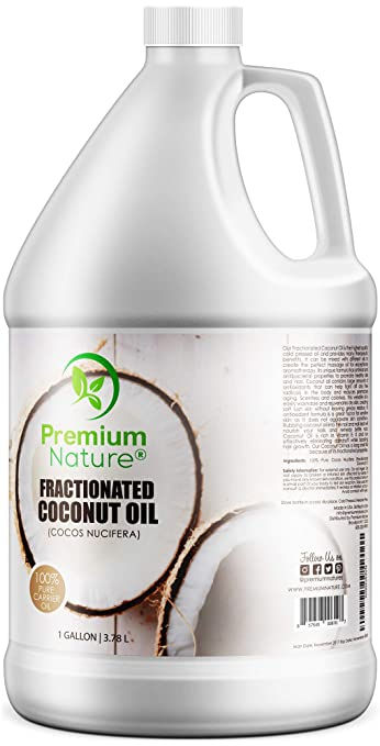 Fractionated Coconut Oil Massage Oils - Liquid MCT Natural & Pure Body  Moisturizer Cold Pressed