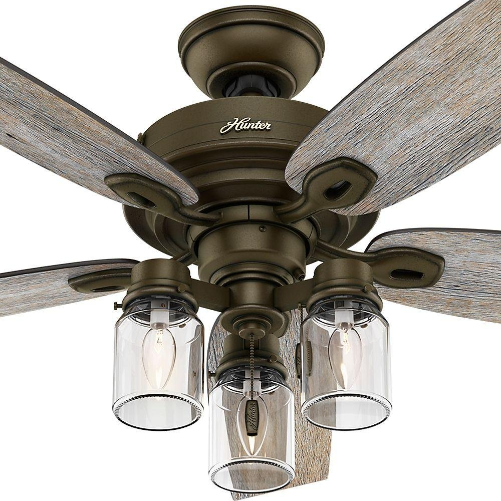 Hunter crown canyon 52 in indoor regal bronze ceiling fan with hunter crown canyon 52 in indoor regal bronze ceiling fan with universal 3 speed ceiling fan control with universal ceiling fan thermostatic remote aloadofball Images