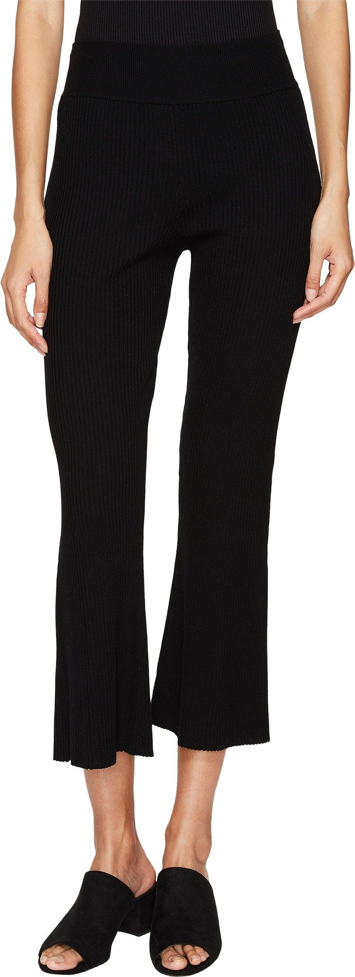 Cashmere In Love Women's Candiss Ribbed Knit Pants Black Large