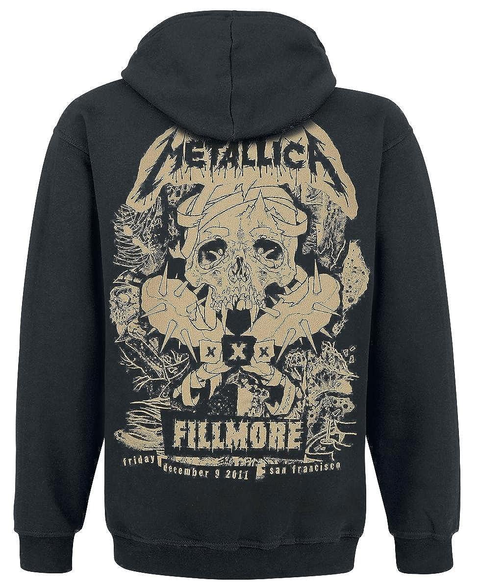 Metallica Fillmore Pushead Sudadera capucha con cremallera Negro negro XL(Talla: 72 cm, Hš¹ften: 94 cm): Amazon.es: Ropa y accesorios