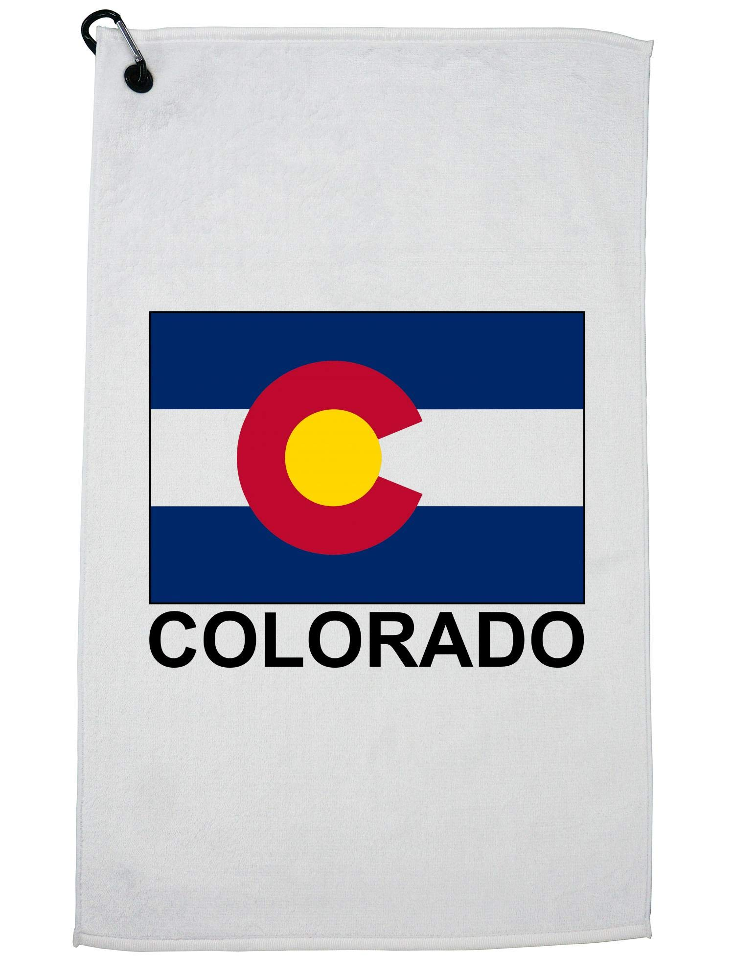 Hollywood Thread Colorado State Flag - Special Vintage Edition Golf Towel Carabiner Clip