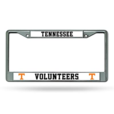 NCAA Rico Industries Standard Chrome License Plate Frame, Tennessee Volunteers : Automotive License Plate Frames : Sports & Outdoors