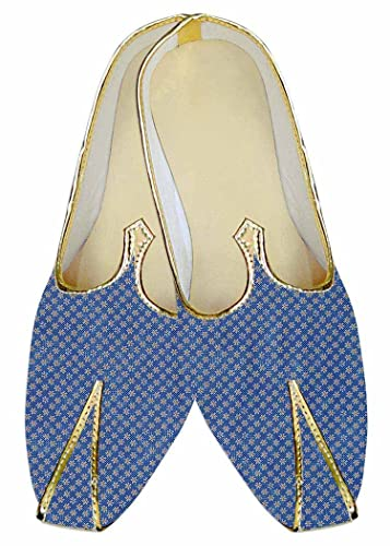 Mens Steel Blue Wedding Shoes Star Pattern MJ015200