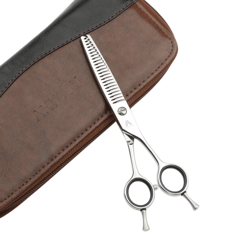 AKUTSU Salon Professional 6.0'' Hair Thinning/Texturizing Shears 17/23/35 Teeth Razor Edge Barber Scissors with Finger Inserts (23 Teeth) by AKUTSU (Image #1)