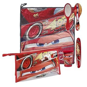 Cars Cars-2500000692 3 3 Set Neceser higiene Comedor Escuela (Artesanía Cerdá 2500000692): Amazon.es: Juguetes y juegos