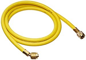 "Yellow Jacket 21060 Plus II Hose Standard 1/4"" Flare Fittings, 60"", Yellow"