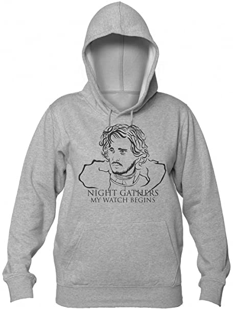 Finest Prints Jon Snow Night Gathers and My Watch Begins Sudadera con Capucha para Mujer: Amazon.es: Ropa y accesorios