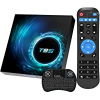 Android 10.0 TV Box, T95 Android TV Box 4GB RAM 64GB ROM Quad-Core H616 Chip Support 6K Full HD 2.4G/5G Dual-Band Wi-Fi…