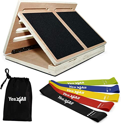 Yes4All Premium Adjustable Wooden Steel Slant Board