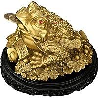 GuanDun Ottone Feng Shui Denaro Froglucky Ornamenti Jin Chan Shop Regalo di Apertura Salotto Armadio per Il Vino Decorazioni da scrivania Statua Attrarre ricchezza Buona Fortuna Golden Toad