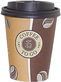Coffee to go Becher für 0,2l /& 0,3l Pappbecher 100x Kaffeebecher Deckel Weiß