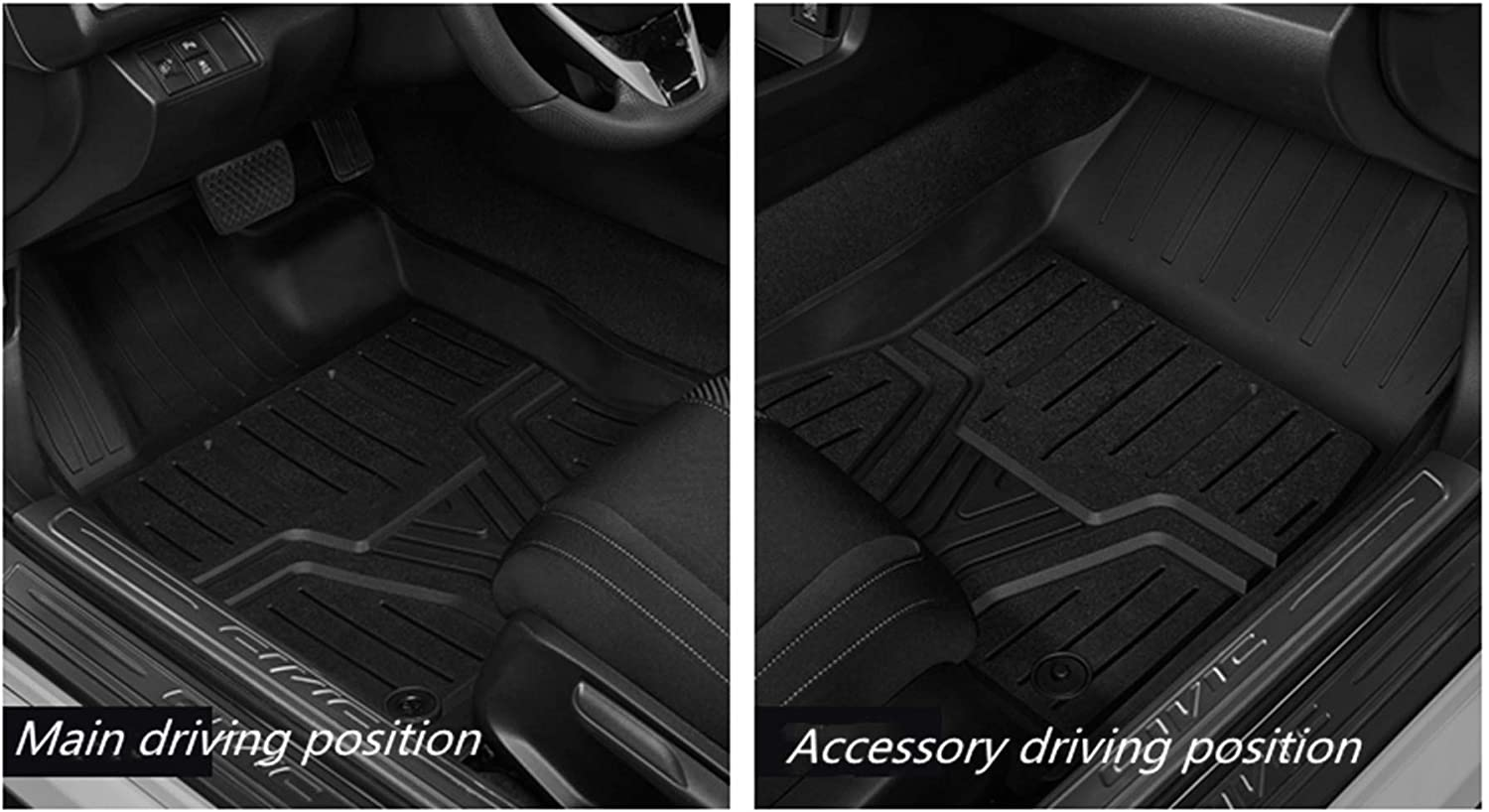 DEF Floor Mats for Honda Civic Fit Floor Liners Replacement for ...