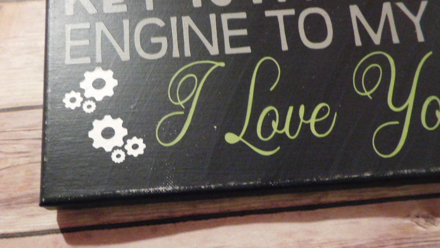 Mechanic Biker Love Sign 12x12'' Canvas Wall Decor Gift by 716PromoDesigns (Image #2)