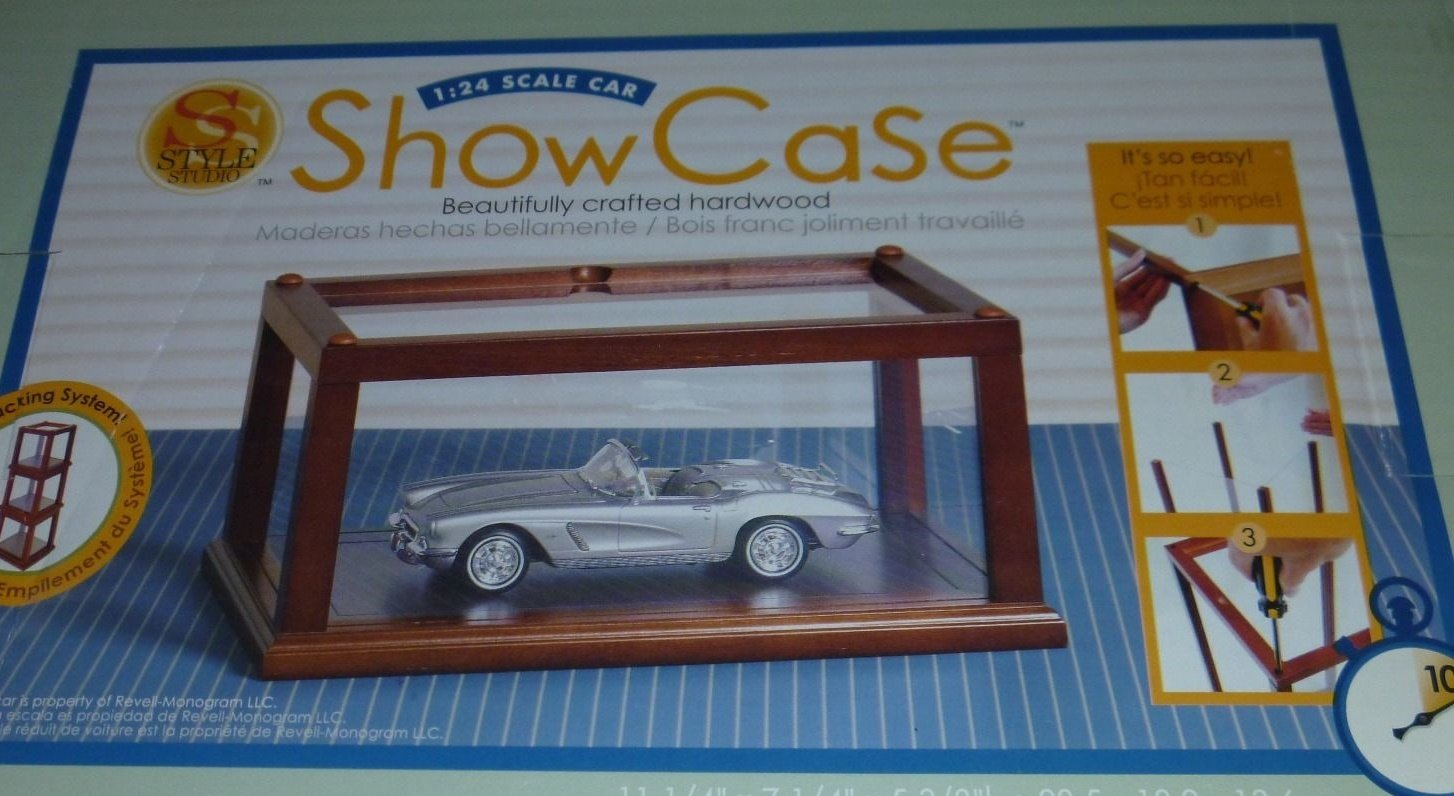 Style Studio 1:24 Scale Car Show Case Hardwood and Glass
