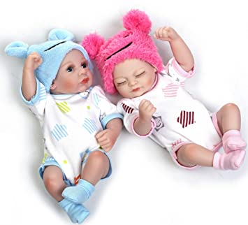 "Realistic 22/"" Girls Twins Reborn Baby Doll Silicone Handmade Girl Boy Gifts Toys"