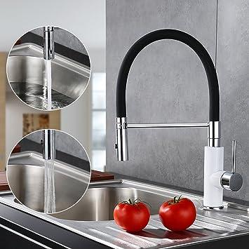Desfau Schwarz Wasserhahn Küchen Küchenarmatur Spültischarmatur