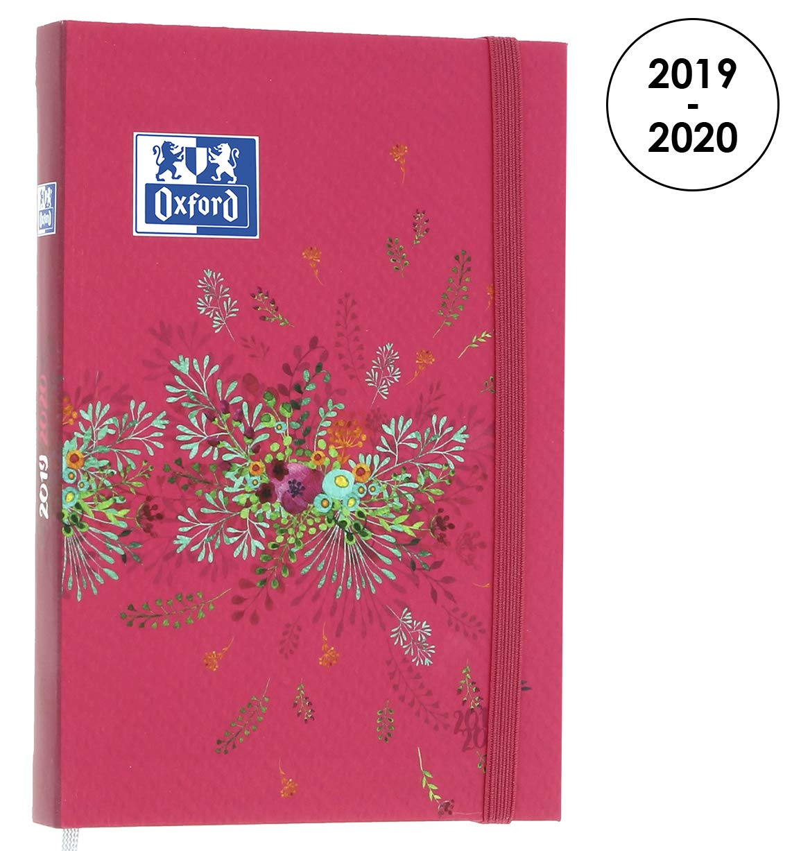 OXFORD 100738359 Flowers Agenda Scolaire journalier 2019-2020 1 Jour par Page 352 pages 12x18 Floral