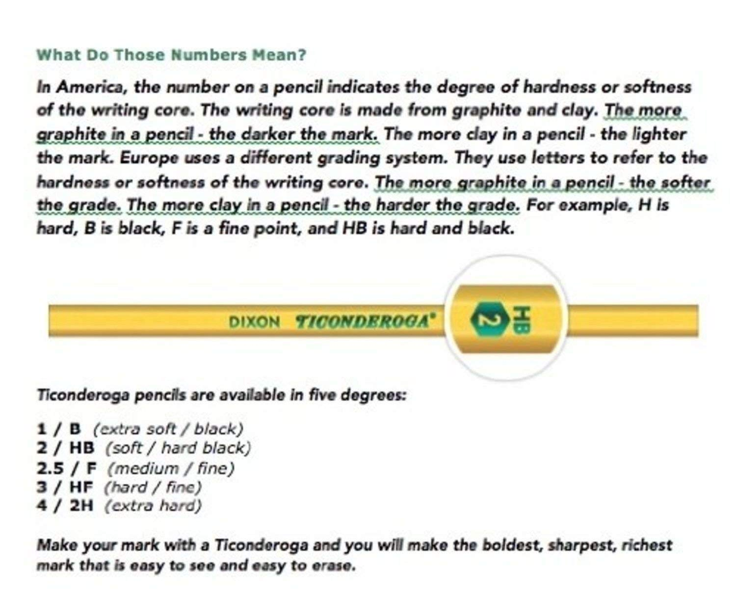 IUYE Ticonderoga Wood-Cased 2 HB Pencils, Box of 96, Yellow 2 Pack by  (Image #3)