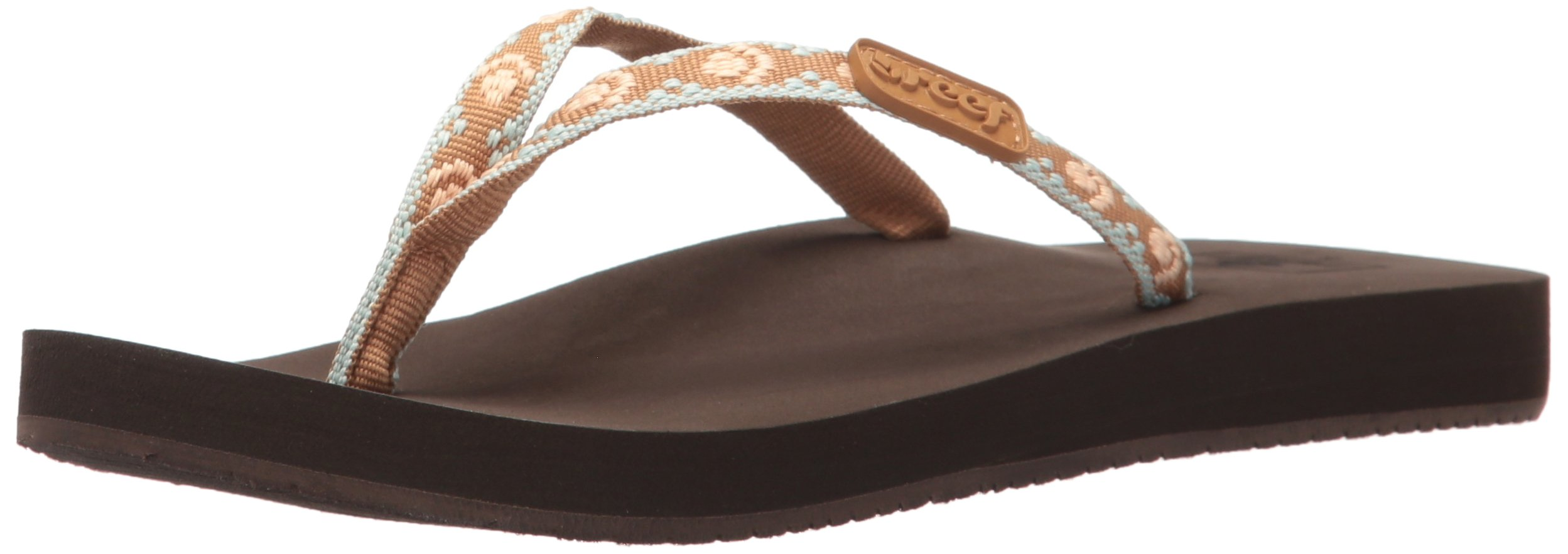 Reef Women's Ginger Flip-Flop, Brown/Peach, 8 M US