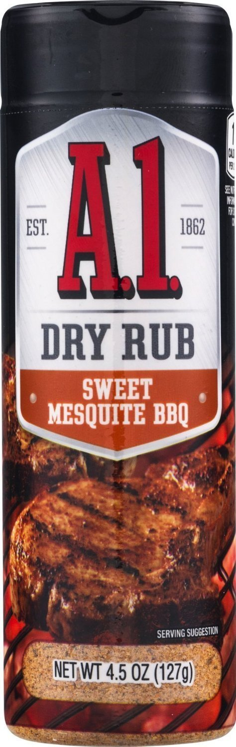 A.1. Sweet Mesquite BBQ Dry Rub 4.5 Container (Pack of 3)