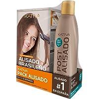 Pack ahorro Kativa Kit Alisado Brasileño con Champú Post Alisado - Tratamiento Alisado Profesional en casa - Hasta 12…