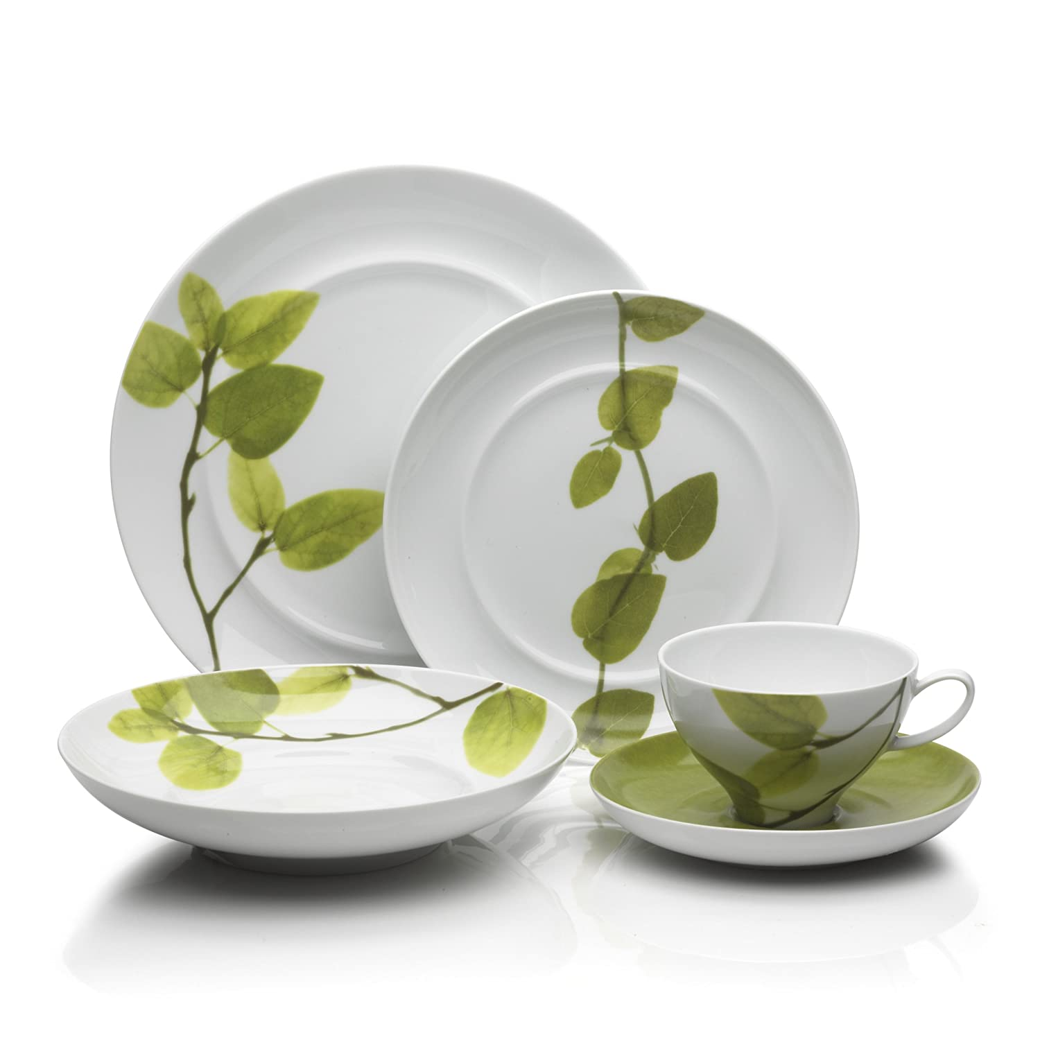 Amazon.com | Mikasa Daylight 5-Piece Dinnerware Set Serice for 1 Dinnerware Sets  sc 1 st  Amazon.com & Amazon.com | Mikasa Daylight 5-Piece Dinnerware Set Serice for 1 ...