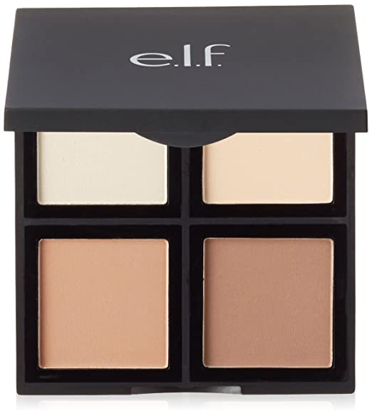 e.l.f. Cosmetics Contour Palette, Four Powder Shades Perfectly Contour and Highlight Your Features, Light/Medium Best contouring palette